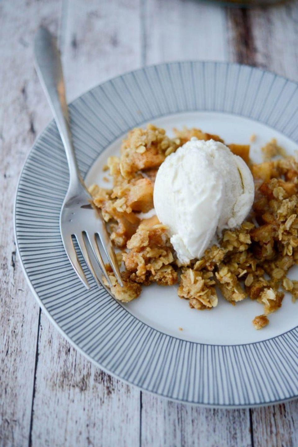 """<p>This spicy cobbler is finished with a coconut oat topping to add a nice crunch to every bite.</p><p><strong>Get the recipe at <a rel=""""nofollow noopener"""" href=""""https://www.carriesexperimentalkitchen.com/apple-chai-cobbler/"""" target=""""_blank"""" data-ylk=""""slk:Carrie's Experimental Kitchen"""" class=""""link rapid-noclick-resp"""">Carrie's Experimental Kitchen</a>.</strong><br></p><p><a rel=""""nofollow noopener"""" href=""""https://www.amazon.com/Pyrex-Prepware-3-Piece-Glass-Mixing/dp/B00LGLHUA0"""" target=""""_blank"""" data-ylk=""""slk:SHOP MIXING BOWLS"""" class=""""link rapid-noclick-resp"""">SHOP MIXING BOWLS</a></p>"""