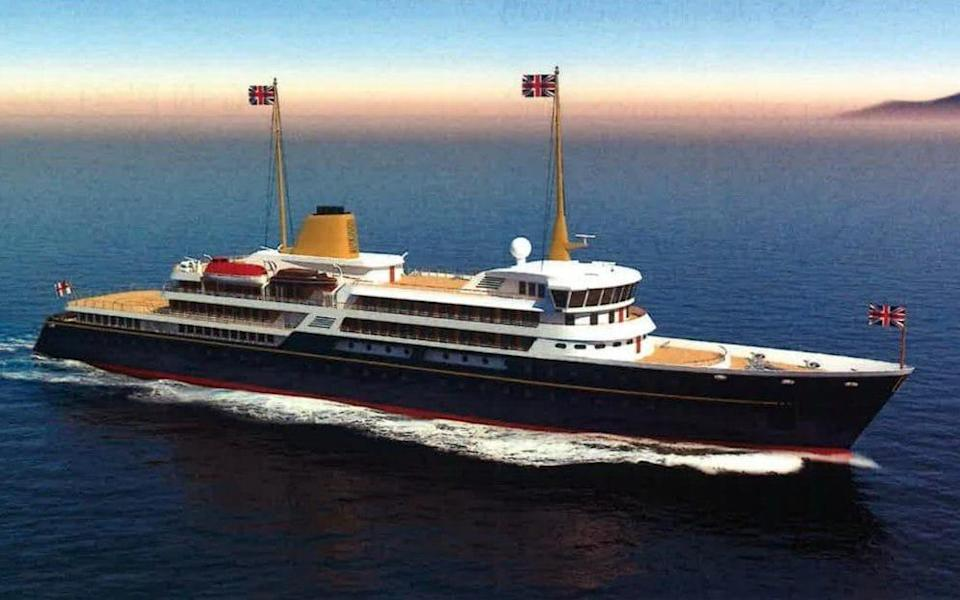An artist's impression of the new ship, released by Downing Street