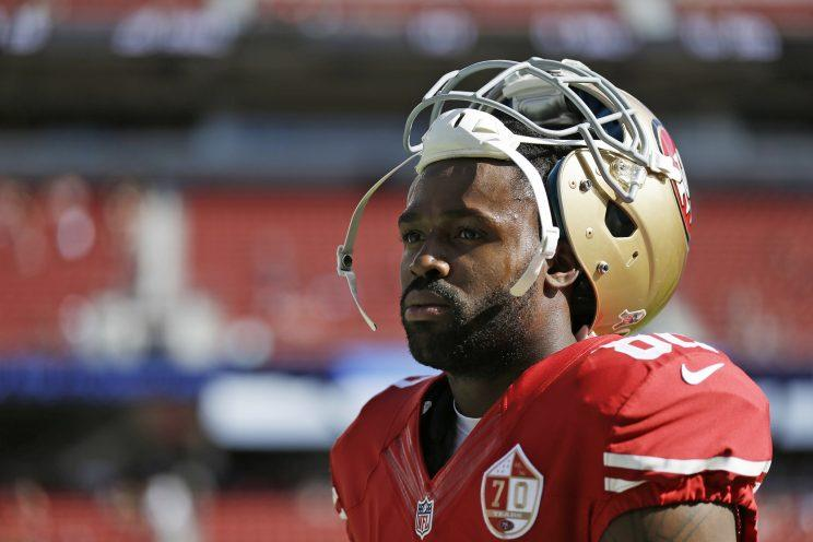 Eagles receiver Torrey Smith, shown with the San Francisco 49ers last season. (AP)