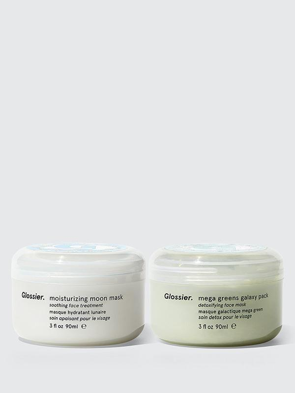 """<p><strong>Glossier</strong></p><p>glossier.com</p><p><strong>$40.00</strong></p><p><a href=""""https://go.redirectingat.com?id=74968X1596630&url=https%3A%2F%2Fwww.glossier.com%2Fproducts%2Fmask-duo&sref=https%3A%2F%2Fwww.redbookmag.com%2Flife%2Fg34680247%2Fwellness-and-self-care-gifts-guide%2F"""" rel=""""nofollow noopener"""" target=""""_blank"""" data-ylk=""""slk:Shop Now"""" class=""""link rapid-noclick-resp"""">Shop Now</a></p><p>Nothing says self-care like a face mask. Glossier doesn't just do your typical face masks though -- they're spa level. The two masks work hand-in-hand, described as, """"Mega Greens Galaxy Pack detoxifies, while Moisturizing Moon Mask hydrates"""". Besides refreshing your skin you'll love the aroma including lemon extracts. </p>"""