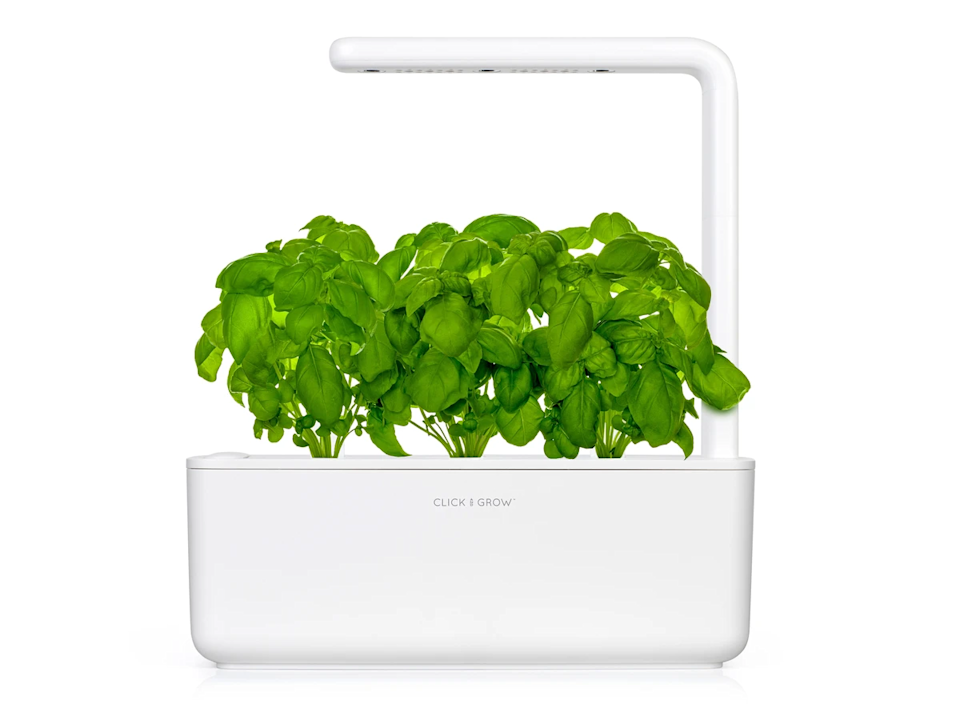 """<h2>Click & Grow The Smart Garden 3</h2><br>For crazy plant ladies, gents, and partners that prefer a little greenery indoors. <br><br><em>Shop <strong><a href=""""https://www.clickandgrow.com/collections/gift-ideas"""" rel=""""nofollow noopener"""" target=""""_blank"""" data-ylk=""""slk:Click and Grow"""" class=""""link rapid-noclick-resp"""">Click and Grow</a></strong></em> <br><br><strong>Click and Grow</strong> The Smart Garden 3, $, available at <a href=""""https://go.skimresources.com/?id=30283X879131&url=https%3A%2F%2Fwww.clickandgrow.com%2Fproducts%2Fthe-smart-garden-3"""" rel=""""nofollow noopener"""" target=""""_blank"""" data-ylk=""""slk:Click and Grow"""" class=""""link rapid-noclick-resp"""">Click and Grow</a>"""