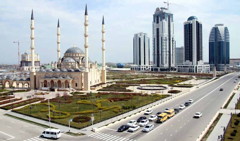 Grozny, the main city in Chechnya, is pictured on April 14, 2012