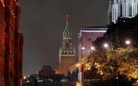 Lenin's mausoleum is located next to the Kremlin walls in downtown Moscow. - Credit: Vladimir Smirnov/TASS via Getty Images