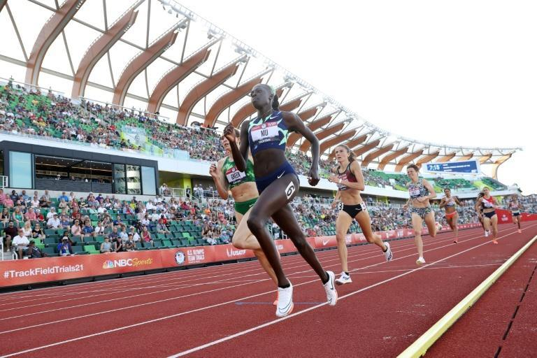 Teenager Athing Mu impresses in the opening round of the women's 800m at the US Olympic trials