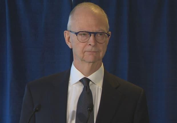 PC Leader Ches Crosbie will not be returning to the House of Assembly after losing his seat to Liberal John Hogan on Saturday.  (CBC - image credit)