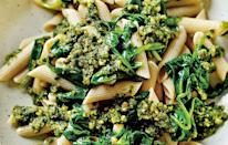 <p>Turns out that pesto is worse for you than a McDonald's burger. The amount of salt in your average pesto pasta serving is now 1.5g, overtaking a Maccy D's hamburger which only contains 1.2g.<br><i>[Photo: Telegraph]</i> </p>