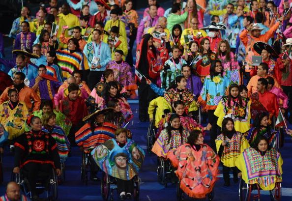LONDON, ENGLAND - AUGUST 29: Athletes from Mexico during the Opening Ceremony of the London 2012 Paralympics at the Olympic Stadium on August 29, 2012 in London, England. (Photo by Gareth Copley/Getty Images)