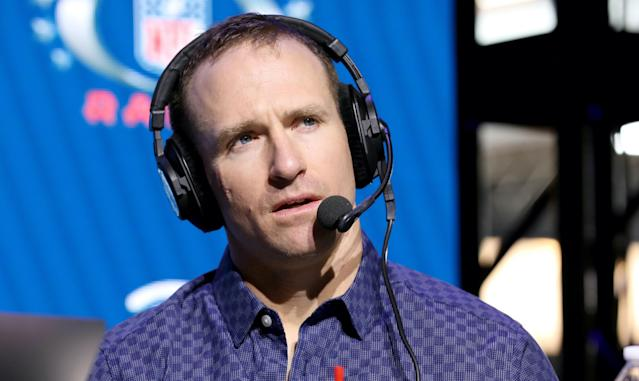 ESPN reportedly has a stop-gap booth in mind as it continues to pursue Drew Brees. (Cindy Ord/Getty Images)