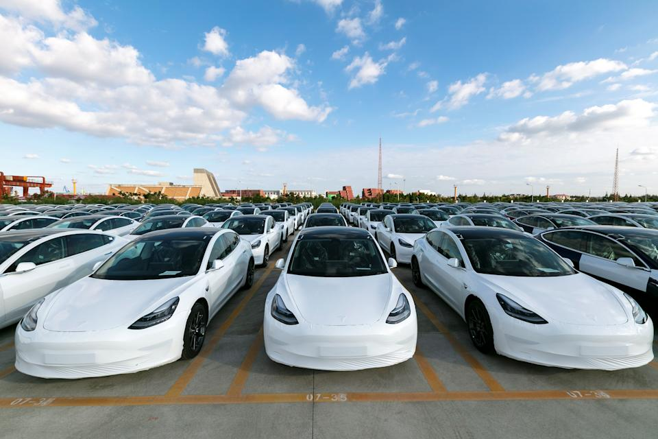 Fábrica de Teslas. (Foto: Wang Xiang/Xinhua via Getty) (Xinhua/Wang Xiang via Getty Images)