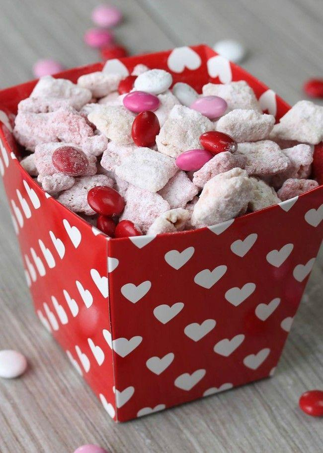 """<p>Chex is not just for party mix anymore! Coat the cereal in sugar and strawberry-flavored cake mix for a Valentine's Day-themed treat.</p><p><strong>Get the recipe at <a href=""""http://therecipecritic.com/2013/02/sweetheart-buddies/"""" rel=""""nofollow noopener"""" target=""""_blank"""" data-ylk=""""slk:The Recipe Critic"""" class=""""link rapid-noclick-resp"""">The Recipe Critic</a>. </strong></p>"""