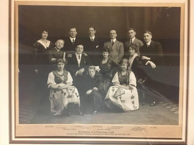 The 1917 cast of the annual St. Patrick's Day play at the Benevolent Irish Society, a Charlottetown group that helped Irish immigrants, and now educates Islanders about Irish heritage.  (Sara Fraser/CBC - image credit)