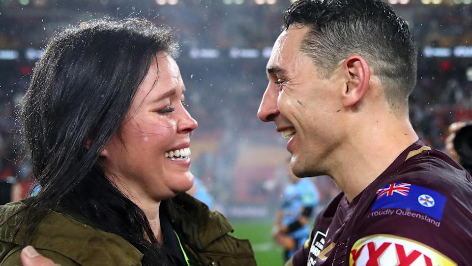 Slater paid an emotional tribute to his wife Nicole. Pic: Gettyy to