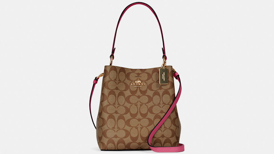 This Coach Small Town bucket bag is marked down more than $260 when you use the Friends & Family sale coupon code.