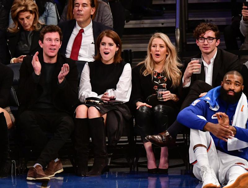 The pair even enjoyed a basketball game together back in November. Photo: Getty Images
