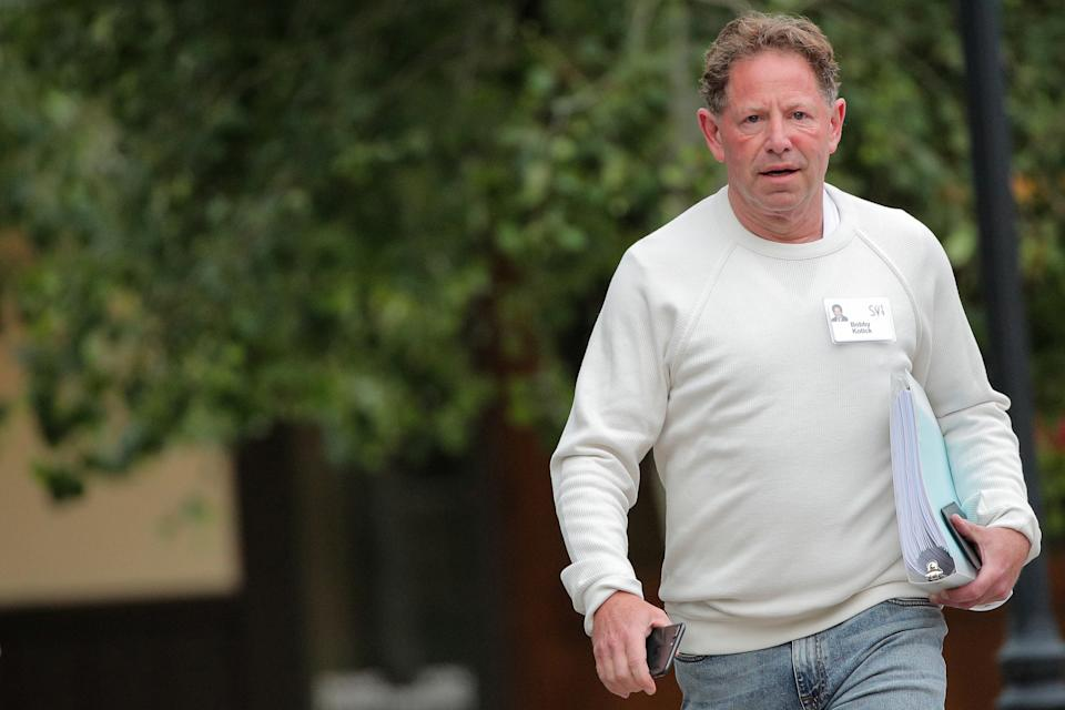 Bobby Kotick, chief executive officer of Activision Blizzard, attends the annual Allen and Co. Sun Valley media conference in Sun Valley, Idaho, U.S., July 10, 2019. REUTERS/Brendan McDermid