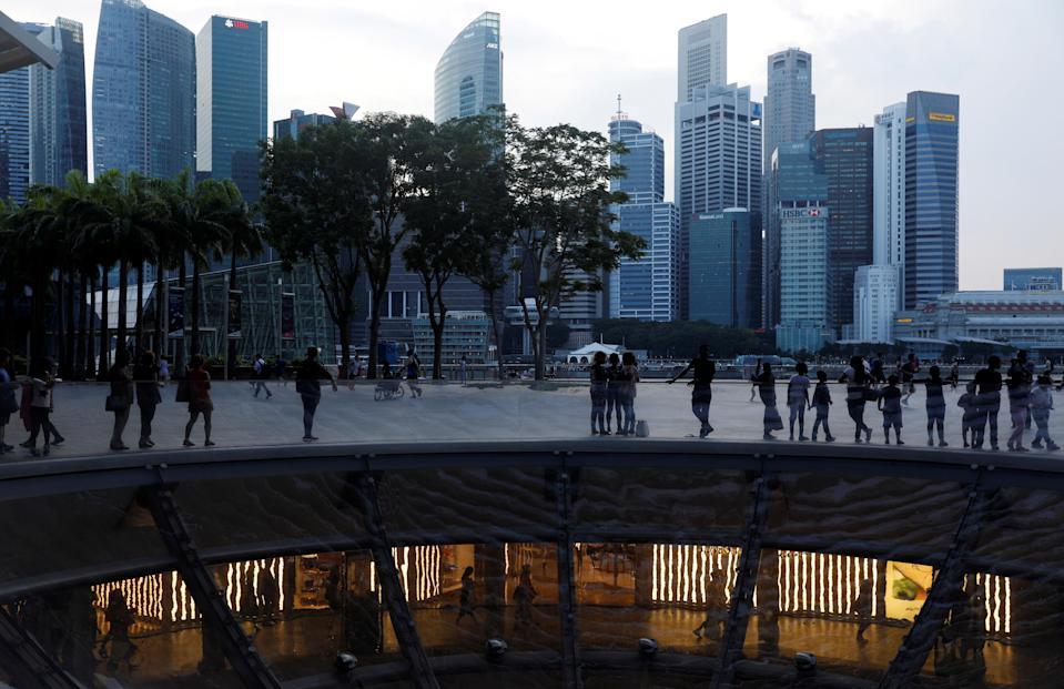 Skyline of the central business district along the Marina Bay Promenade in Singapore. (Photo: REUTERS/Edgar Su)