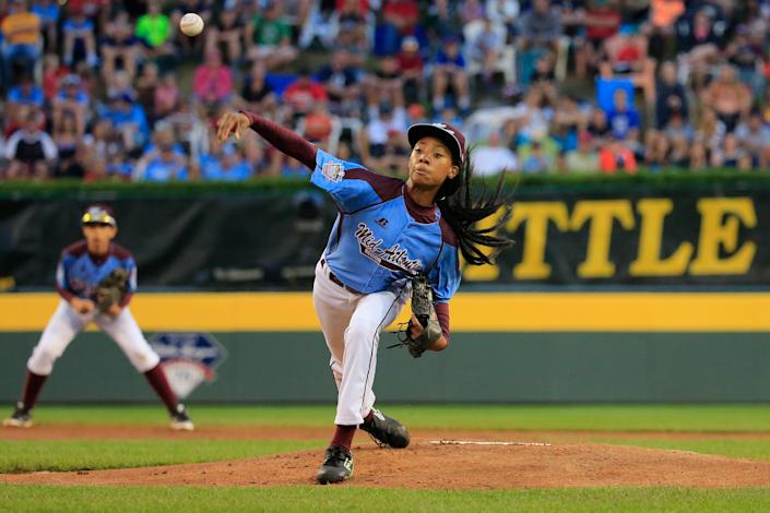 In 2014, Mo'ne Davis became the first female to throw a shutout in the Little League World Series. (Getty Images)