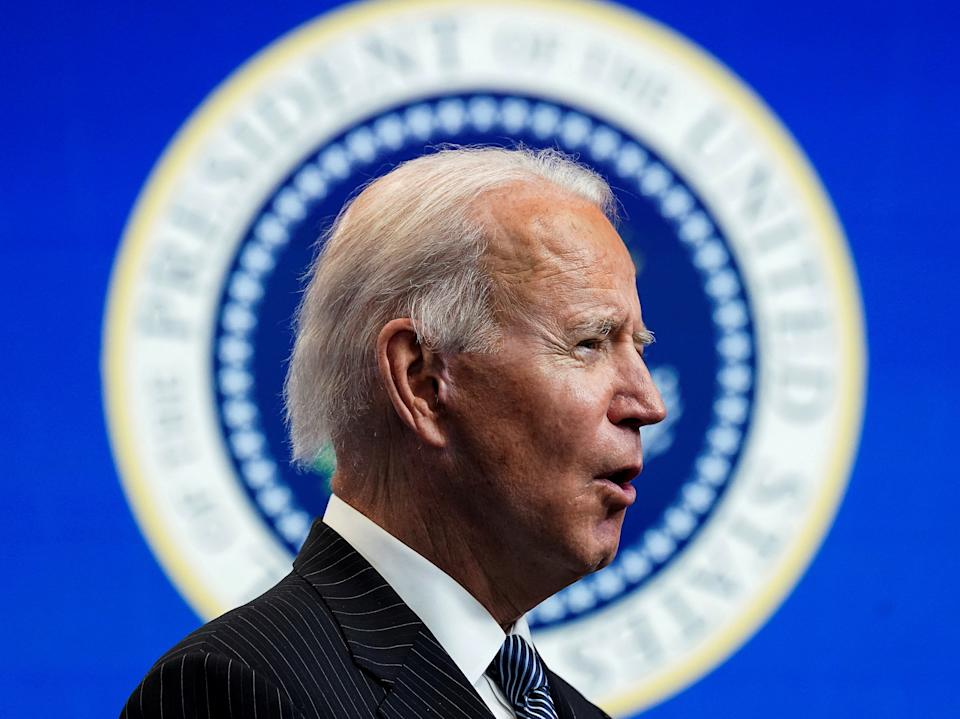 <p>An overwhelming 94 per cent of Democrats approved of the newly inaugurated president during his first few days in office</p> (REUTERS)