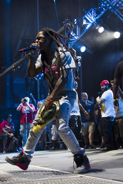 Lil Wayne performs at the Hot 97 Summer Jam XX on Sunday, June 2, 2013 in East Rutherford, N.J. (Photo by Charles Sykes/Invision/AP)