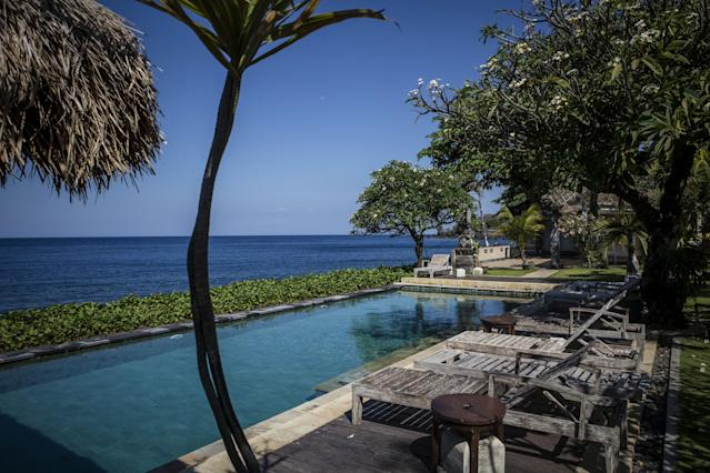 A view of a hotel on Tulamben beach on the Island of Bali, Indonesia (Photo by Ulet Ifansasti/Getty Images)