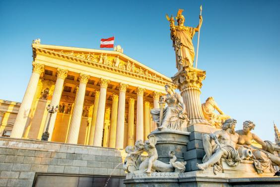 The Austrian parliament building in Vienna (Getty Images/iStockphoto)