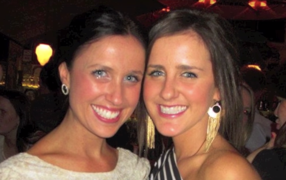 Nicole Fitzimons and Kate Fitzimons pictured smiling in a photo together.
