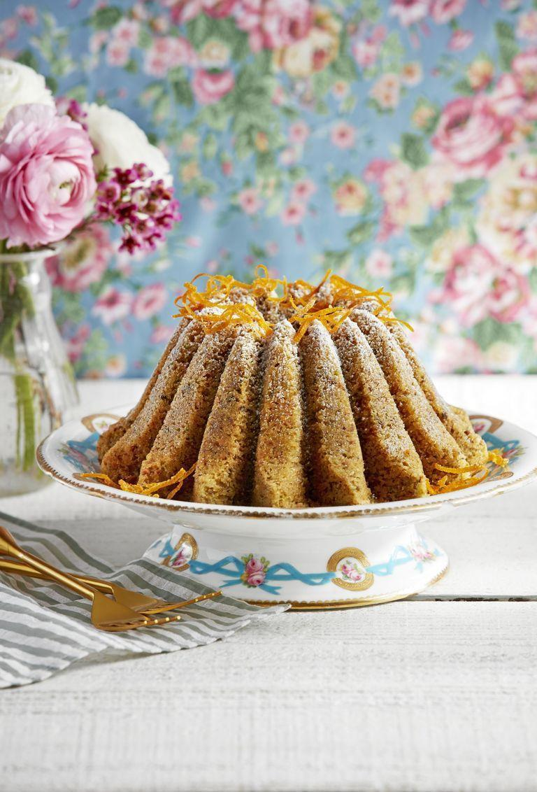 "<p>This bundt cake is great whether you're serving it with after-dinner coffee or as part of a fabulous Mother's Day brunch.</p><p><strong><a href=""https://www.countryliving.com/food-drinks/a27244988/pistachio-orange-cake-recipe/"" rel=""nofollow noopener"" target=""_blank"" data-ylk=""slk:Get the recipe"" class=""link rapid-noclick-resp"">Get the recipe</a>.</strong></p><p><a class=""link rapid-noclick-resp"" href=""https://www.amazon.com/Nordic-Ware-Lotus-Bundt-Pan/dp/B06XDT5P27/?tag=syn-yahoo-20&ascsubtag=%5Bartid%7C10050.g.3185%5Bsrc%7Cyahoo-us"" rel=""nofollow noopener"" target=""_blank"" data-ylk=""slk:SHOP BUNDT PANS"">SHOP BUNDT PANS</a><br></p>"