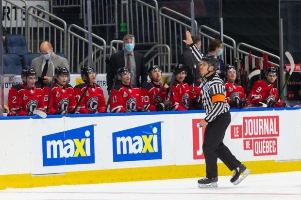 The Quebec Remparts were one of a number of QMJHL teams forced to suspend team activities because of positive COVID-19 tests this season.