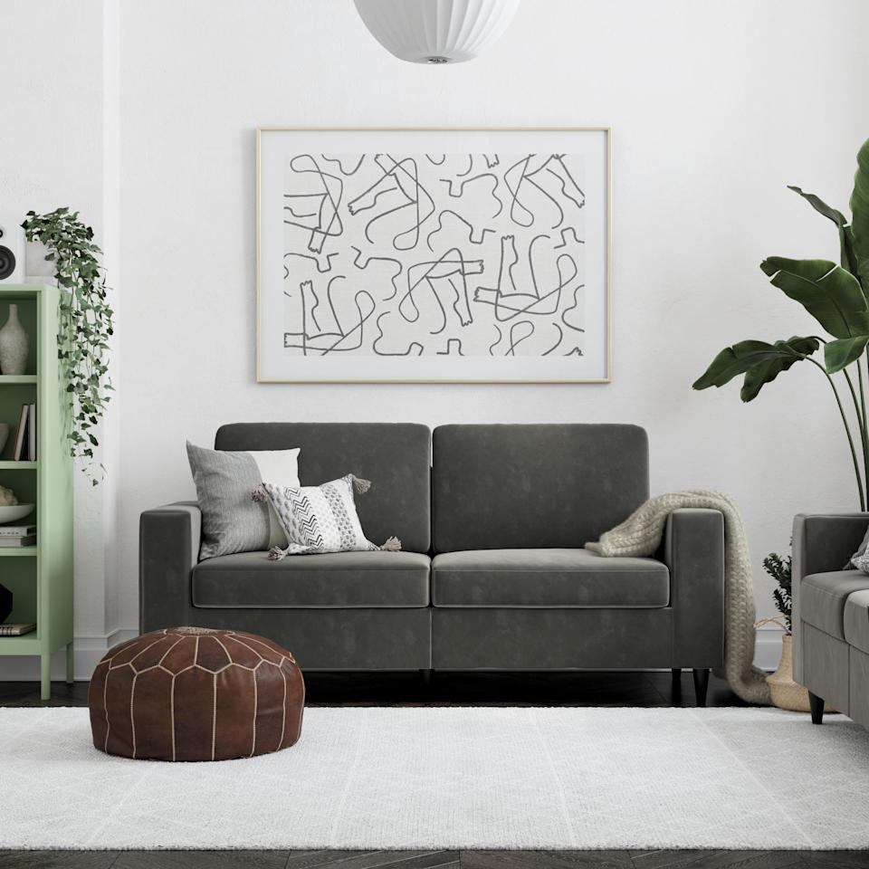 <p>This <span>DHP Cooper Sofa</span> ($249, originally $299) looks way more expensive than it is.</p>