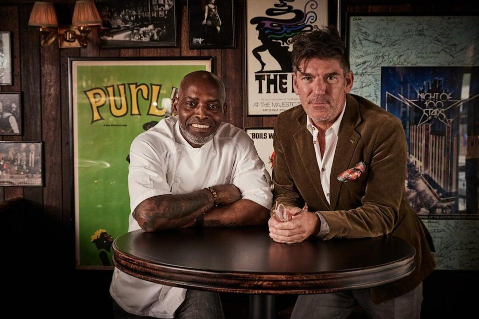 Familiar faces: Gary Lee, left, will oversee the kitchen as executive chef, with Russell Norman launching a new bar  (Charlie McKay)
