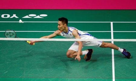 Badminton - Badminton World Championships - Glasgow, Britain - August 22, 2017 Malaysia's Lee Chong Wei in action during his match against France's Brice Leverdez REUTERS/Russell Cheyne