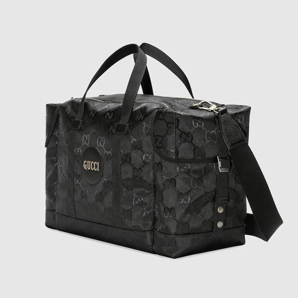 "<p><a href=""https://www.popsugar.com/buy/Gucci-Off-Grid-Duffle-Bag-584676?p_name=Gucci%20Off%20the%20Grid%20Duffle%20Bag&retailer=gucci.com&pid=584676&price=1%2C980&evar1=fab%3Aus&evar9=47573194&evar98=https%3A%2F%2Fwww.popsugar.com%2Ffashion%2Fphoto-gallery%2F47573194%2Fimage%2F47573300%2FGucci-Off-Grid-Duffle-Bag&list1=gucci%2Ceco%20fashion&prop13=mobile&pdata=1"" class=""link rapid-noclick-resp"" rel=""nofollow noopener"" target=""_blank"" data-ylk=""slk:Gucci Off the Grid Duffle Bag"">Gucci Off the Grid Duffle Bag</a> ($1,980)</p>"