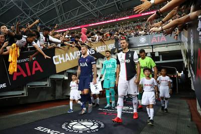 Tottenham and Juventus Before 2019 ICC Singapore Presented by AIA