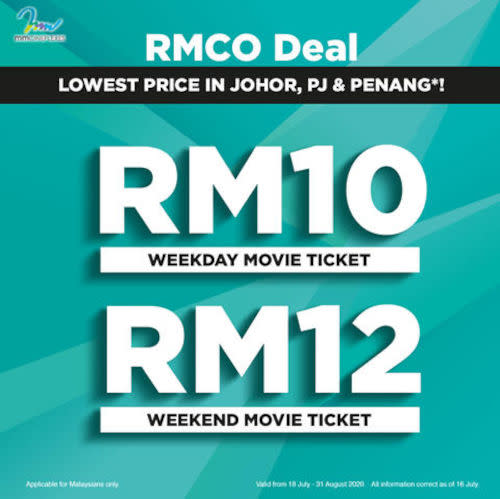 A new promotion by mmCineplexes introduces the lowest ticket price in Johor, PJ and Penang.