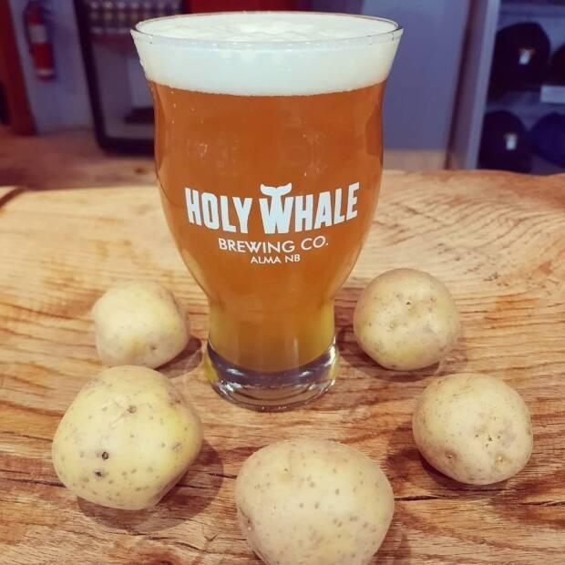 The P.E.I. Wit beer was originally brewed last summer, but Holy Whale is reviving the recipe in anticipation of the return of the Atlantic bubble on April 19. (Holy Whale Brewing Co./Facebook - image credit)