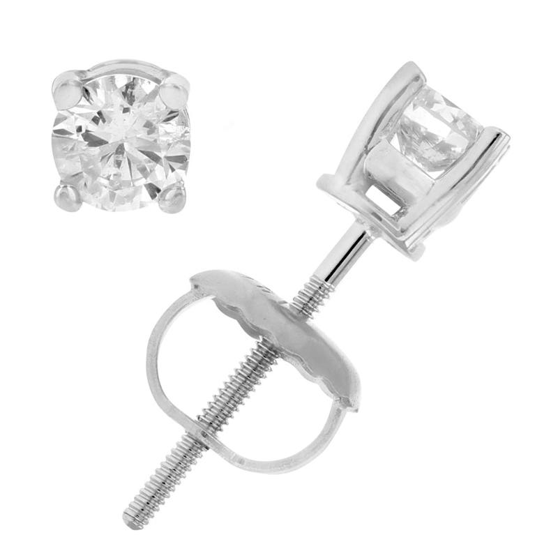 Vir Jewels uses lab-graded, conflct-free diamonds in all of its studded, 14 K gold earrings. (Photo: Amazon)