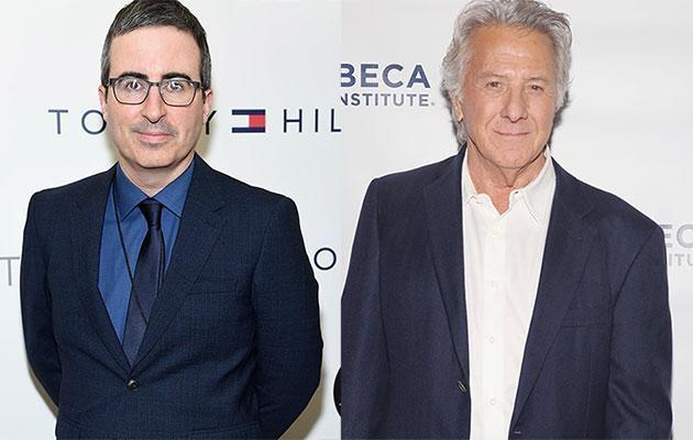 John Oliver has spoken out about the time he recently slammed Dustin Hoffman over his statement regarding the claims of sexual harassment made against him. Source: Getty