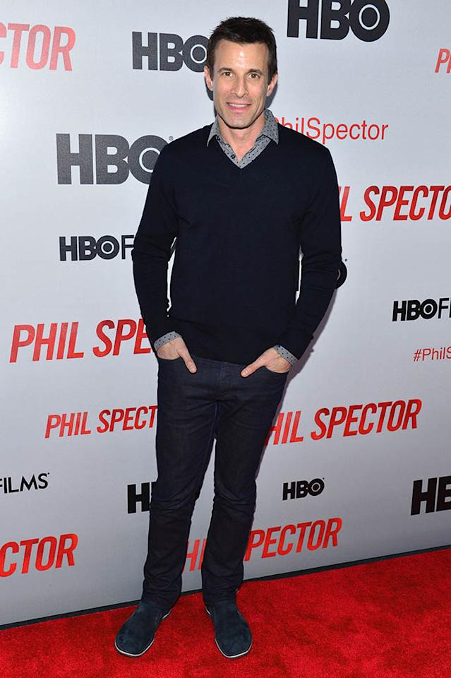 """AJ Hammer attends the """"Phil Spector"""" premiere at the Time Warner Center on March 13, 2013 in New York City."""
