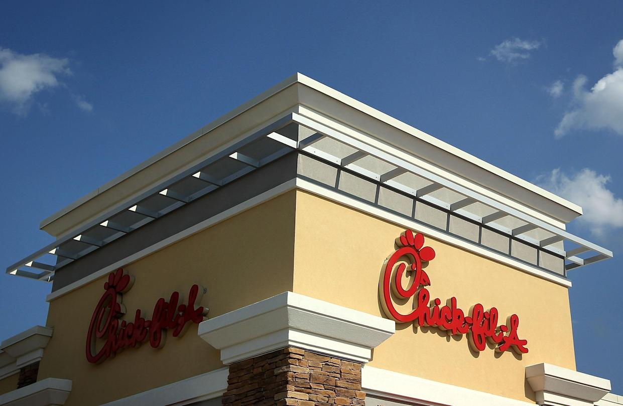 A Chick-fil-A restaurant in Springfield, Va. (Photo: Alex Wong/Getty Images)