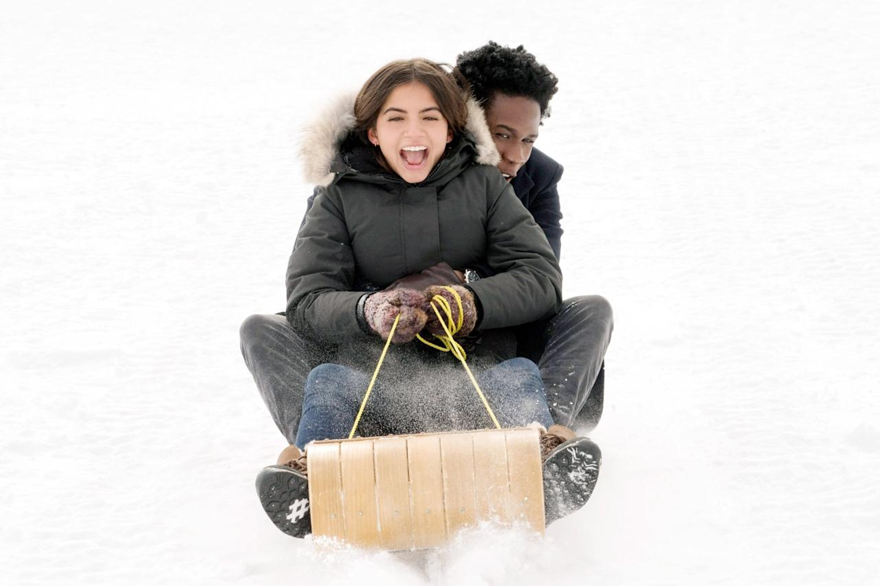 """<p>Since <strong>Love Actually </strong>is on this list, why not add <strong><a href=""""https://www.popsugar.com/latest/Let-It-Snow"""" class=""""ga-track"""" data-ga-category=""""Related"""" data-ga-label=""""http://www.popsugar.com/latest/Let-It-Snow"""" data-ga-action=""""In-Line Links"""">Let It Snow</a></strong>, aka teen <strong>Love Actually</strong>? <a href=""""https://www.popsugar.com/entertainment/netflix-let-it-snow-soundtrack-46877209"""" class=""""ga-track"""" data-ga-category=""""Related"""" data-ga-label=""""http://www.popsugar.com/entertainment/netflix-let-it-snow-soundtrack-46877209"""" data-ga-action=""""In-Line Links"""">The soundtrack</a> features classics such as The Harvey Averne Band's """"Let's Get It Together This Christmas"""" as well as nonholiday earworms such as The Waterboys' """"The Whole of the Moon."""" Plus Shameik Moore, aka the voice of Miles Morales, gives us the gorgeous, catchy holiday hit """"First Christmas (That I Loved You),"""" which he sings as the teen musician heartthrob in the movie. <br></p>"""