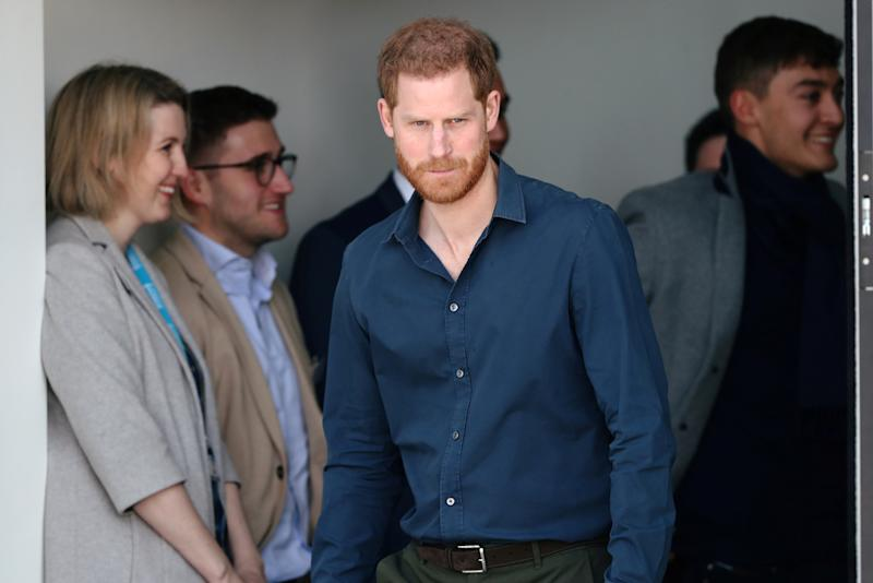 NORTHAMPTON, ENGLAND - MARCH 06: Prince Harry, Duke of Sussex tours The Silverstone Experience at Silverstone on March 6, 2020 in Northampton, England. (Photo by Simon Dawson-WPA Pool/Getty Images)