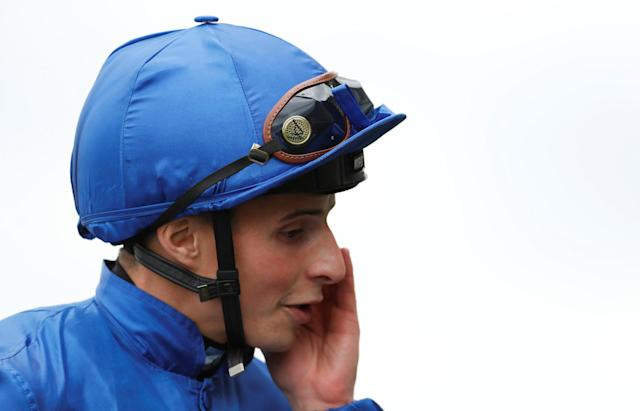 Horse Racing - Royal Ascot - Ascot Racecourse, Ascot, Britain - June 19, 2018 William Buick on Blue Point after winning the 3:40 King's Stand Stakes REUTERS/Andrew Boyers