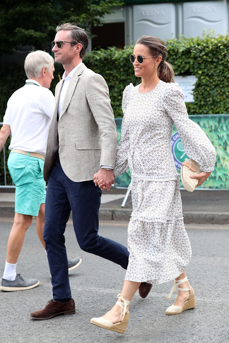 Middleton and husband James Matthews in 2018. (Photo by Neil Mockford/GC Images)