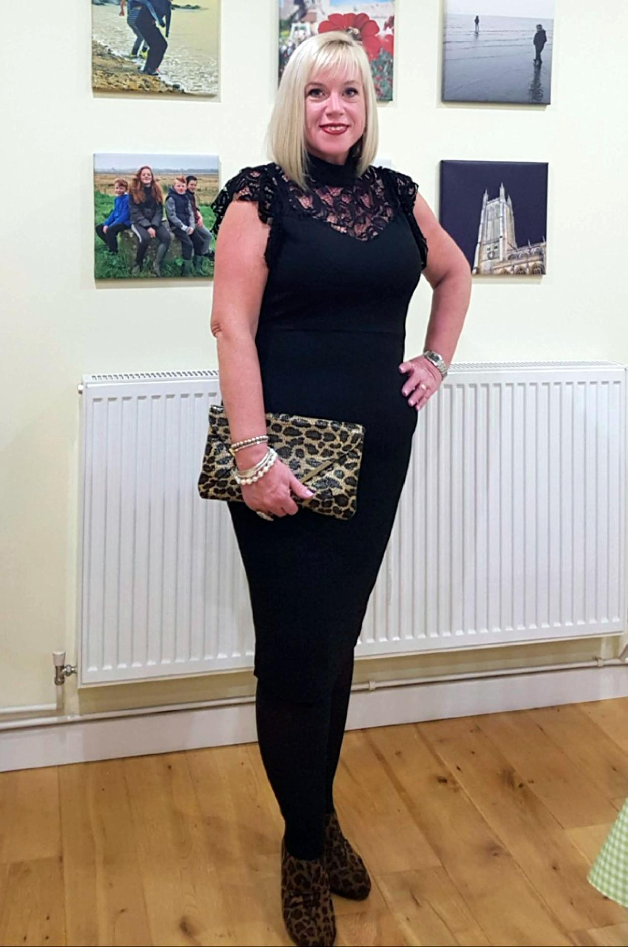 With the support of her family, the mother-of-four lost six stone [Photo: Caters]