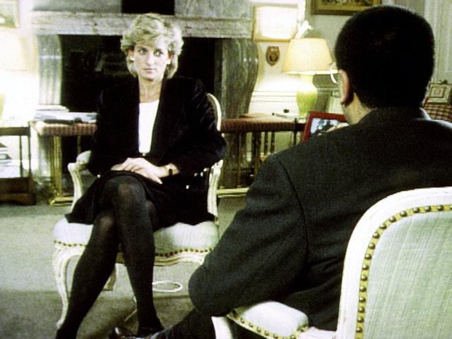 Diana with Bashir during the Panorama interview