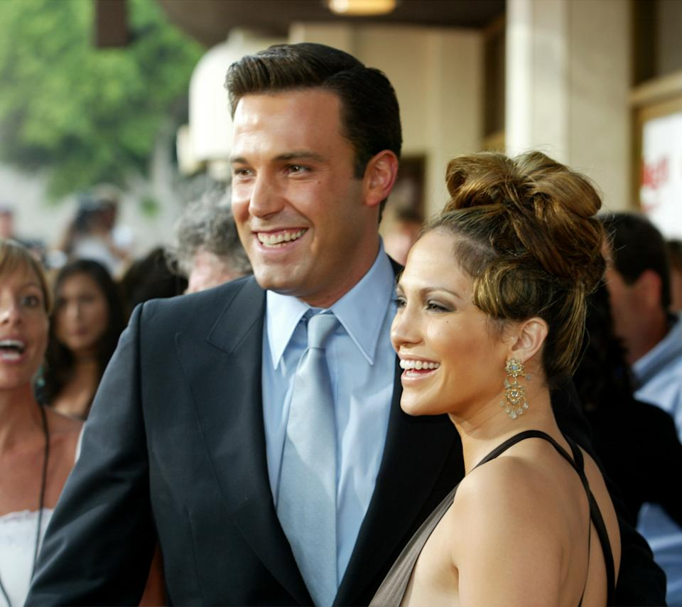 Ben Affleck, here with Jennifer Lopez at the 2003 premiere of Gigli, reflects on his romance with the star.