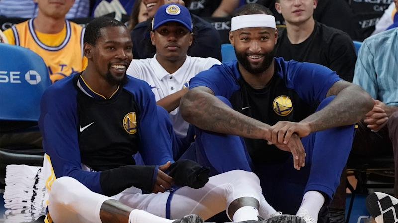 bc2a17c889f2 Kevin Durant staying mum on DeMarcus Cousins  PUMA vs. Nike wisecrack