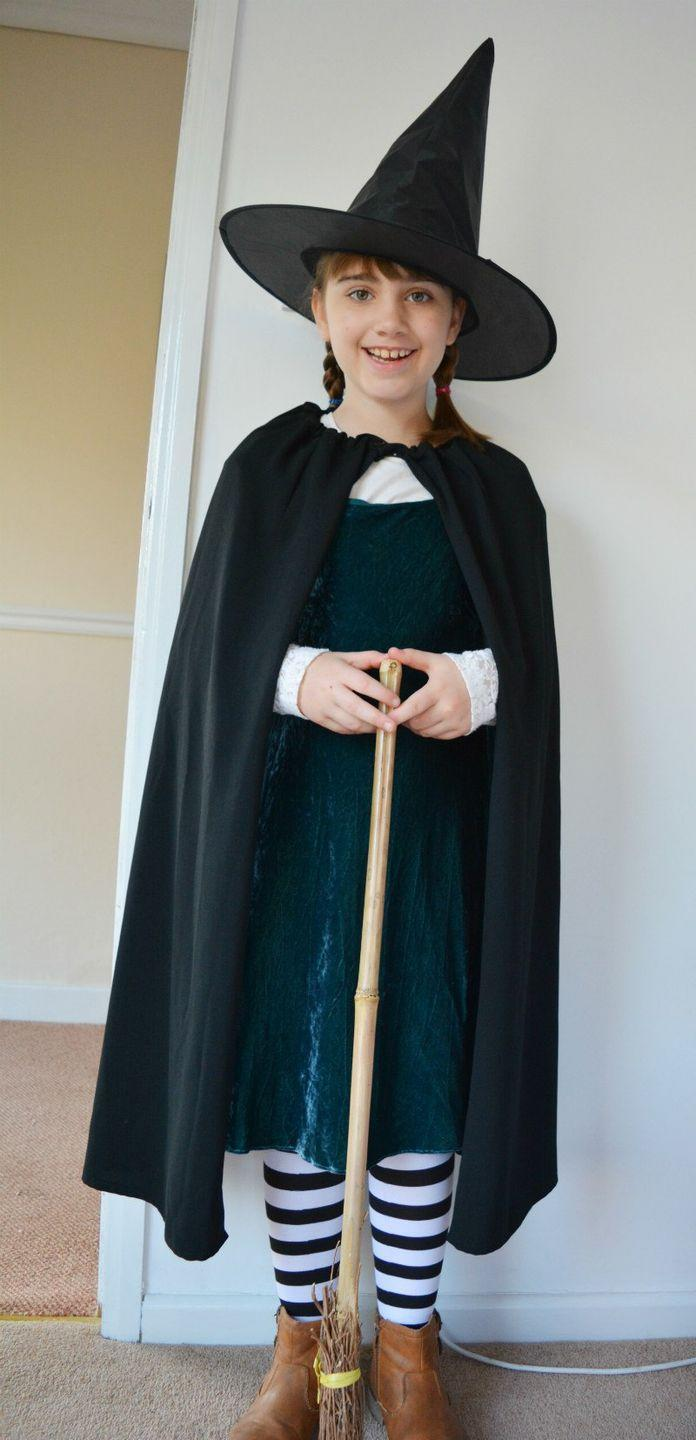 """<p>This cape was made from a thrift shop skirt—how clever is that? </p><p><strong>Get the tutorial at <a href=""""https://vickymyerscreations.co.uk/sewing-2/worst-witch-costume-diy-cape/"""" rel=""""nofollow noopener"""" target=""""_blank"""" data-ylk=""""slk:Vickey Myers Creations"""" class=""""link rapid-noclick-resp"""">Vickey Myers Creations</a>.</strong> </p><p><a class=""""link rapid-noclick-resp"""" href=""""https://www.amazon.com/Velvet-Crushed-BLACK-Upholstery-Fabric/dp/B005HZ8730?tag=syn-yahoo-20&ascsubtag=%5Bartid%7C10050.g.28304812%5Bsrc%7Cyahoo-us"""" rel=""""nofollow noopener"""" target=""""_blank"""" data-ylk=""""slk:SHOP CRUSHED VELVET"""">SHOP CRUSHED VELVET</a></p>"""