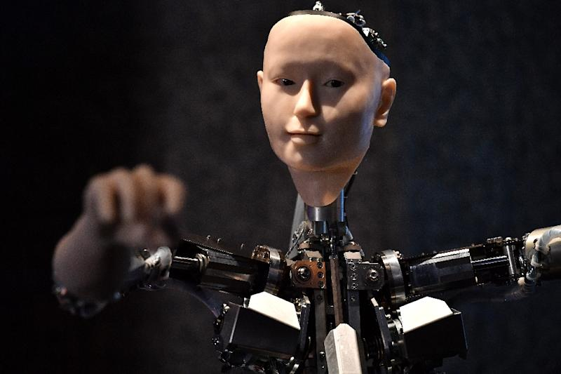 """Under the title """"AI: more than human"""", London's Barbican centre is bringing together more than 200 installations, exhibits and projects by artists, scientists and researchers from all over the world (AFP Photo/Ben STANSALL)"""