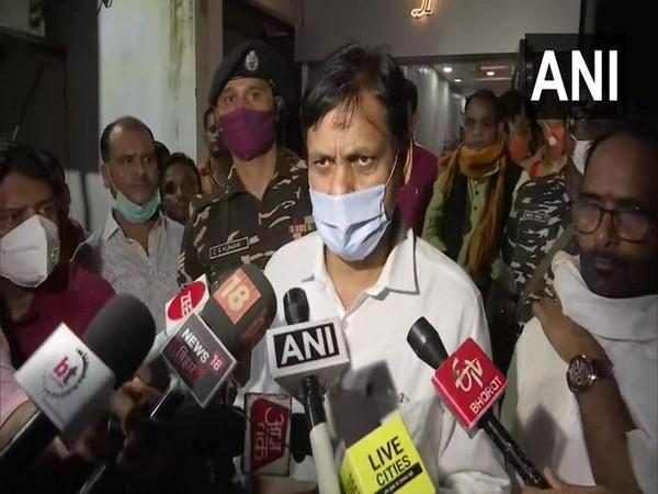 Mos Home Nityanand Rai speaking to reporters on Friday. Photo/ANI